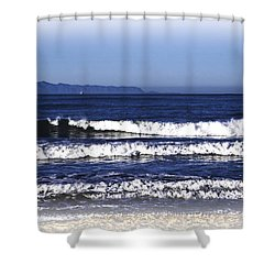 Channel Islands View Shower Curtain by William Havle