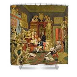 Charles Townley And His Friends Shower Curtain by Johann Zoffany