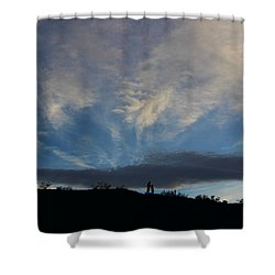Shower Curtain featuring the photograph Chase The Moonlight by Tammy Espino