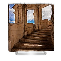 Shower Curtain featuring the photograph Chateau De Blois Staircase / Loire Valley by Barry O Carroll