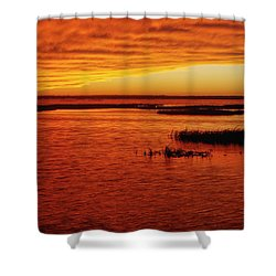 Cheyenne Bottoms Sunset Shower Curtain