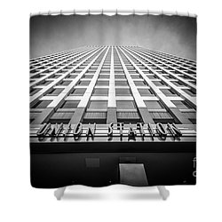 Chicago Union Station In Black And White Shower Curtain by Paul Velgos