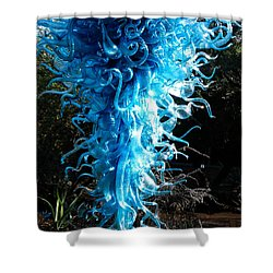 Chihuly In Blue Shower Curtain by Menachem Ganon