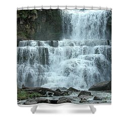 Chittenango Falls Shower Curtain by Mariarosa Rockefeller