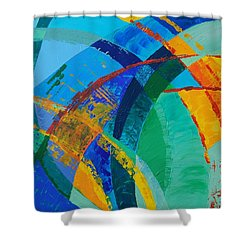 Shower Curtain featuring the painting Choices by Linda Bailey
