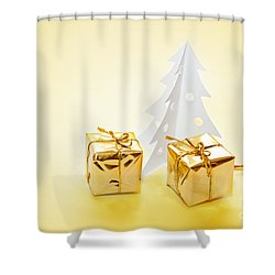 Christmas Decorations Shower Curtain by Michal Bednarek