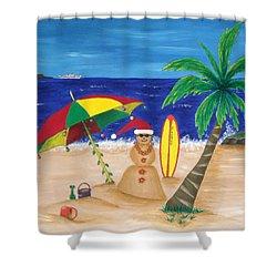 Christmas In Kona Shower Curtain by Pamela Allegretto
