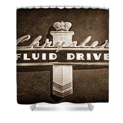 Chrysler Fluid Drive Emblem Shower Curtain by Jill Reger