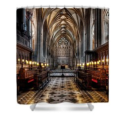 Church Interior Shower Curtain