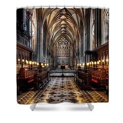Church Interior Shower Curtain by Adrian Evans