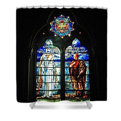 Church Of The Covenant Stained Glass 11 Shower Curtain