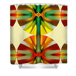 Circle Pattern 2 Shower Curtain by Amy Vangsgard