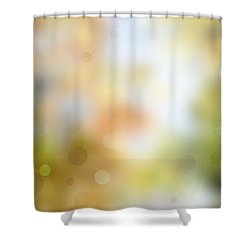 Circles Background Shower Curtain by Les Cunliffe
