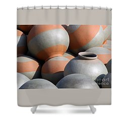 Shower Curtain featuring the photograph Circles No5_pjboylan by PJ Boylan