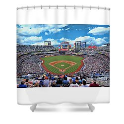 Citi Field 2 - Home Of The N Y Mets Shower Curtain