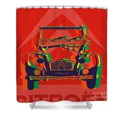 Citroen 2cv Shower Curtain