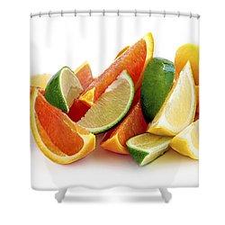 Citrus Wedges Shower Curtain by Elena Elisseeva