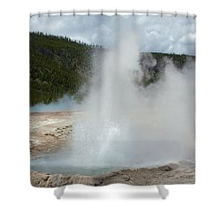 Cliff Geyser Shower Curtain
