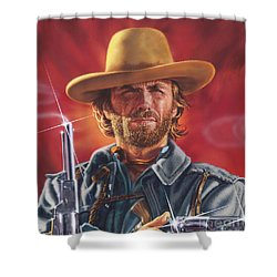 Clint Eastwood Shower Curtain