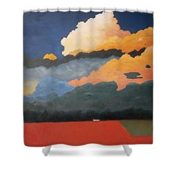 Cloud Rising Shower Curtain by Gary Coleman