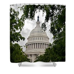 Clouds Over The Capitol Shower Curtain