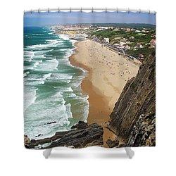 Coastal Cliffs Shower Curtain by Carlos Caetano
