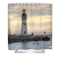 Coastguard Lighthouse Shower Curtain
