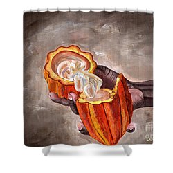 Cocoa Pod In Hand Shower Curtain