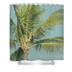 Cocos Nucifera - Niu - Palma - Po'olenalena Beach Maui Hawaii Shower Curtain by Sharon Mau