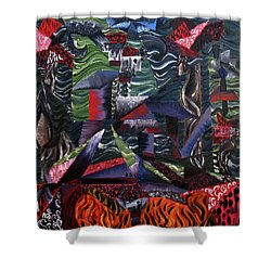Shower Curtain featuring the painting Cocytemensia by Ryan Demaree