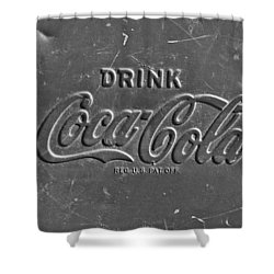 Coke Sign Shower Curtain by Jill Reger