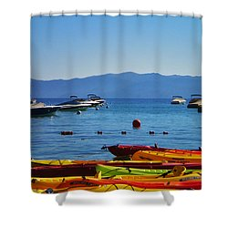Colorful Kayaks Lake Tahoe Shower Curtain