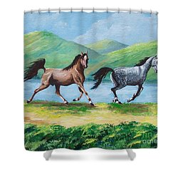 Colt And Mare Shower Curtain