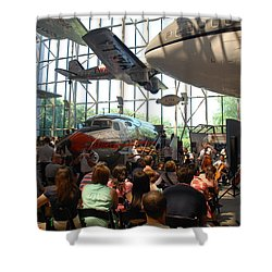 Concert Under The Planes Shower Curtain