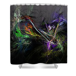 Shower Curtain featuring the digital art Conflict by David Lane