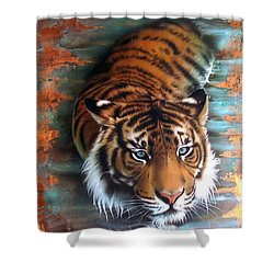 Copper Tiger II Shower Curtain