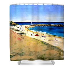 Cottesloe Beach Shower Curtain by Therese Alcorn