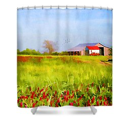 Country Kind Of Spring Shower Curtain by Darren Fisher