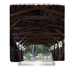 Covered Bridge Shower Curtain by Catherine Gagne