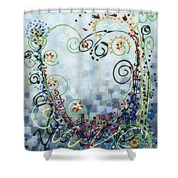 Crazy Love Jazz Shower Curtain by Holly Carmichael