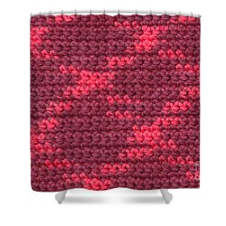 Crochet With Variegated Yarn Shower Curtain by Kerstin Ivarsson