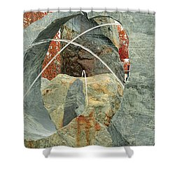 Crossing Paths II Shower Curtain