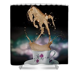 Cup Of Coffee Shower Curtain by Kate Black
