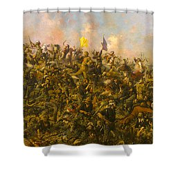 Custers Last Stand Shower Curtain by Edgar S Paxson