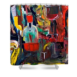 Cut IIi Wine Woman And Music Shower Curtain