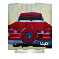 Dad's 58 Ford Shower Curtain