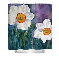 Shower Curtain featuring the painting Daffodil Dream by Anna Ruzsan