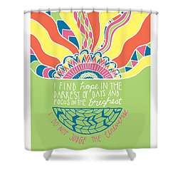 Dalai Lama Quote Shower Curtain by Susan Claire