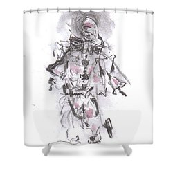 Dancing Clown Shower Curtain