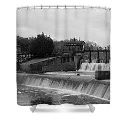 Daniel Pratt Cotton Mill Dam Prattville Alabama Shower Curtain by Charles Beeler